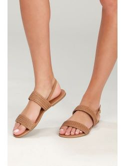 Blaise Camel Flat Sandals