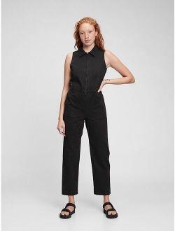 Sleeveless Zipper-Front Jumpsuit