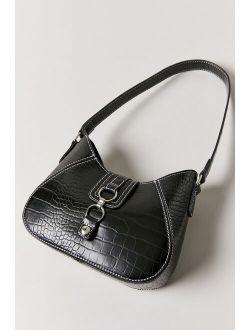 Uo Yas Contrast Stitch Baguette Bag