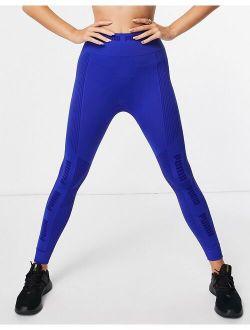 Training Evoknit Seamless Leggings In Cobalt Blue