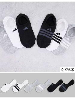 Training Superlite 6-pack no-show socks in multi colorways
