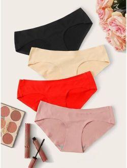 4pack Solid Panty Set