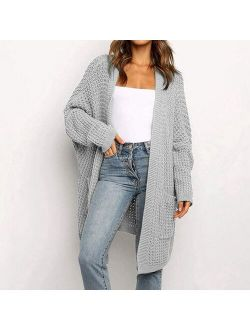 Muyogrt Women's Cardigans 2021 New Style For Autumn Casual Long Knitted Cardigan Women Sweater Jacket V-Neck Full Cardigans