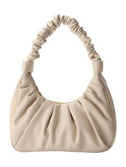 Ella & Elly Ivory Ruched Hobo Bag
