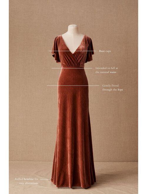 Jenny Yoo Women's  Ellis Velvet Dress