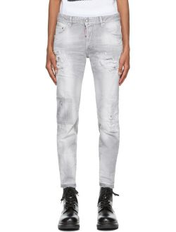 Dsquared2 Grey Made With Love Skater Jeans