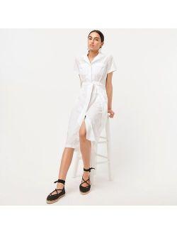 Patch-pocket cotton poplin shirtdress