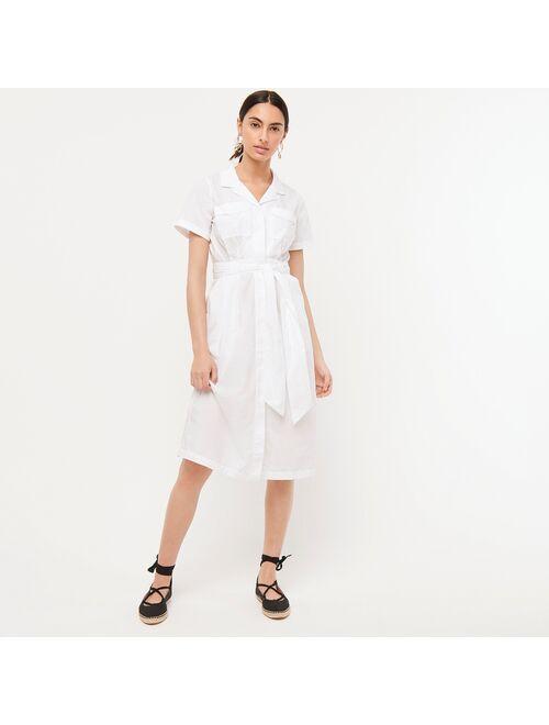 J.Crew Patch-pocket cotton poplin shirtdress