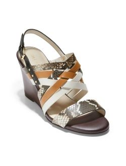 Mariana Women's Leather Wedge Sandals