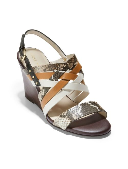 Cole Haan Mariana Women's Leather Wedge Sandals