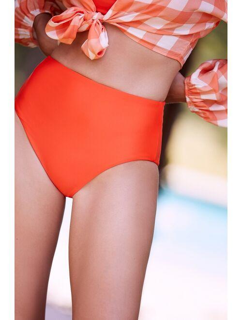 Anthropologie Classic High-Waisted Bikini Bottoms