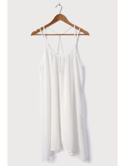 Vacay Stay White Strappy Swim Cover-Up