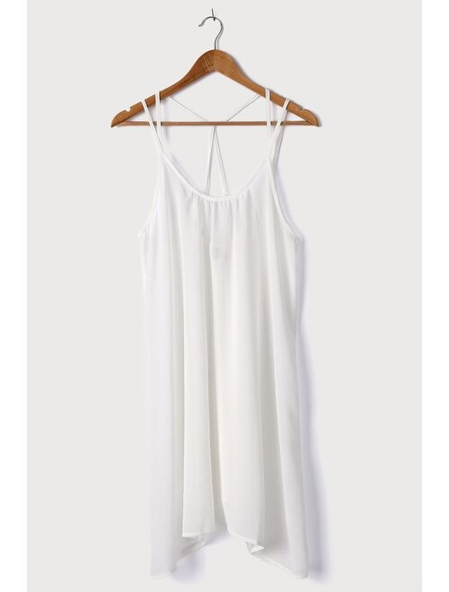 Lulus Vacay Stay White Strappy Swim Cover-Up