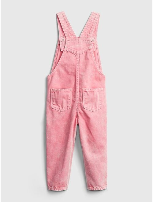 Toddler Pink Overalls with Washwell™