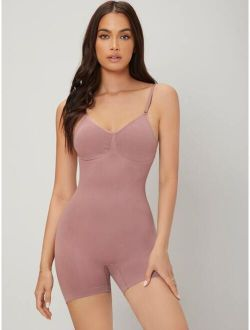 Lightly Shaping Solid Seamless Comfortable Shapewear Bodysuit