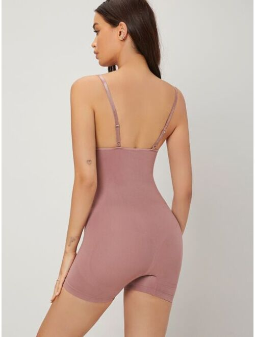 Shein Lightly Shaping Solid Seamless Comfortable Shapewear Bodysuit
