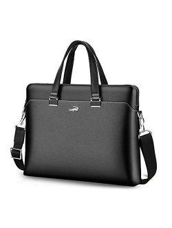 Handbag Shoulder Bag for Men Men's Leather Messenger Bag, 15.6 Inches Laptop Briefcase Business Satchel Computer