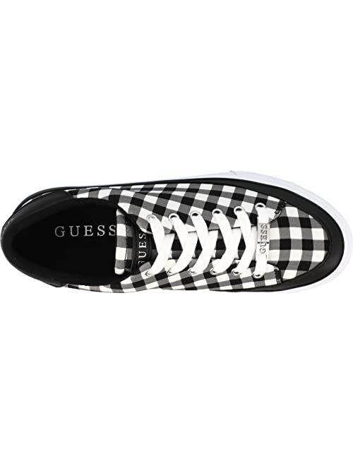 Guess Leather & Synthetic Lace Up Women Sneaker
