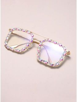 Rhinestone Decor Eyeglasses