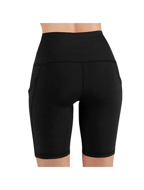 30H Women High Waist Leggings Out Pocket Shorts Running Athletic Shorts Fitness Oversized Sports Short Pants Droshipping