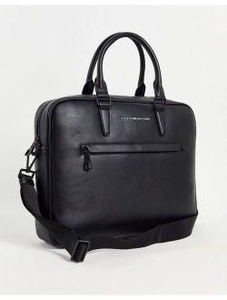 Metro laptop bag with logo in black