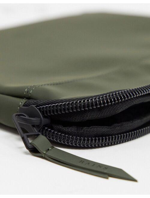 Rains 1651 zip top 13 inch laptop case in green