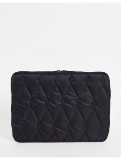 13 Inch Quilted Laptop Case In Black