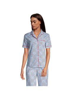 Ds' End Short Sleeve Poplin Pajama Shirt