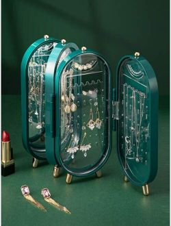 1pc Desktop Collapsible Jewelry Box