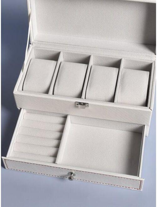 Shein 1pc Double Layer Jewelry Storage Box