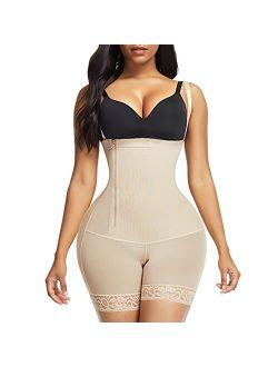 Body Shaper for Women Tummy Control Shapewear Side Zipper Open Bust Fajas for Ladies Daily Life