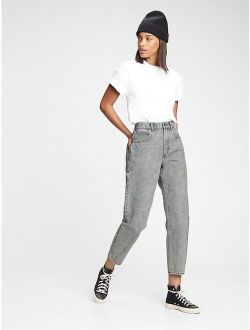 High Rise Barrel Jeans With Washwell™