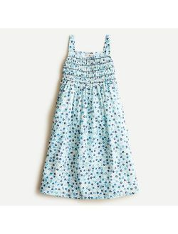Girls' smocked top cotton nightgown