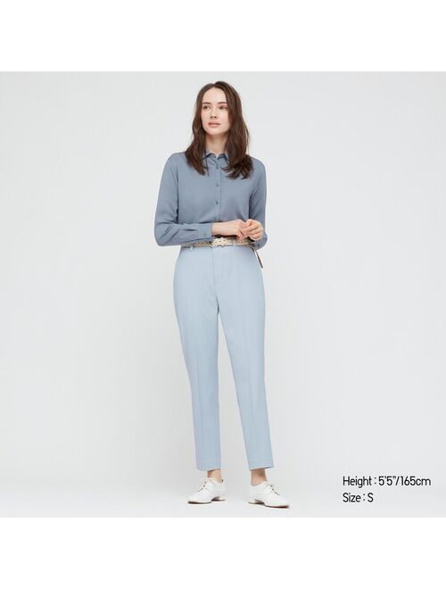 Uniqlo WOMEN SMART 2-WAY STRETCH SOLID ANKLE-LENGTH PANTS