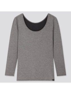 WOMEN HEATTECH EXTRA WARM SCOOP NECK T-SHIRT