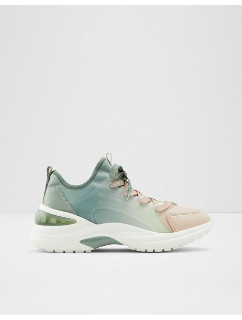 ALDO Dwardonii chunky sneakers in green ombre