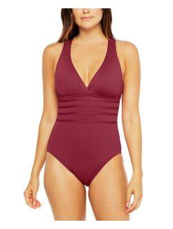 La Blanca Island Goddess Tummy-Control Strappy One-Piece Swimsuit