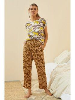 Comfy Cotton Leopard Print Pajama Pants