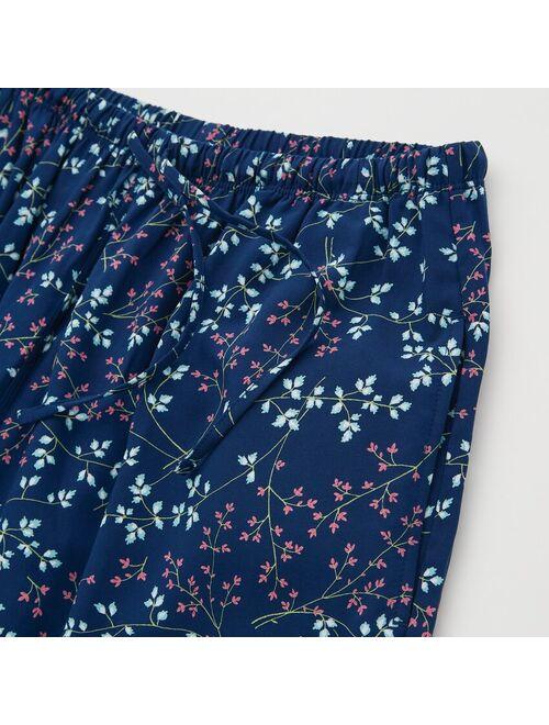 Uniqlo WOMEN DRAPE PRINTED STRAIGHT PANTS