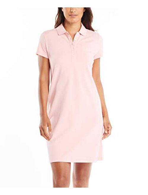 Nautica Women's Easy Classic Short Sleeve Stretch Cotton Polo Dress