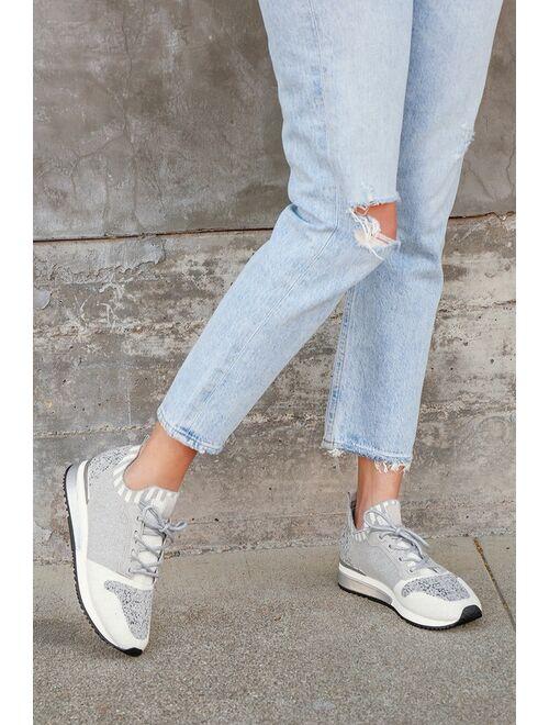 J/Slides Madeline Grey Multi Knit Color Block Sneakers