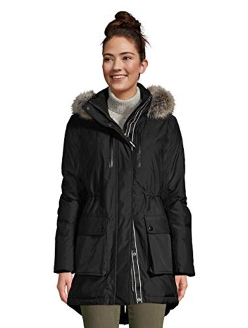 Lands' End Women's Expedition Waterproof Down Winter Parka with Faux Fur Hood