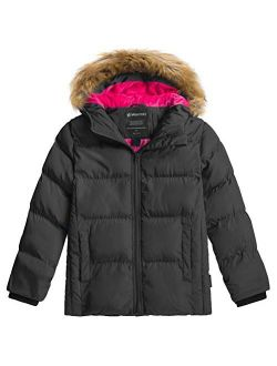 Wantdo Girl's Water-Resistant Winter Coat Warm Insulated Padded Puffer Jacket with Hood