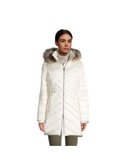 Ds' End Faux-fur Hood Insulated Plush-lined Winter Coat