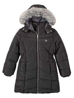 Girls' Long Puffer Jacket
