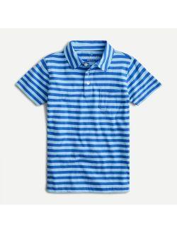 Boys' cotton polo in wide stripe