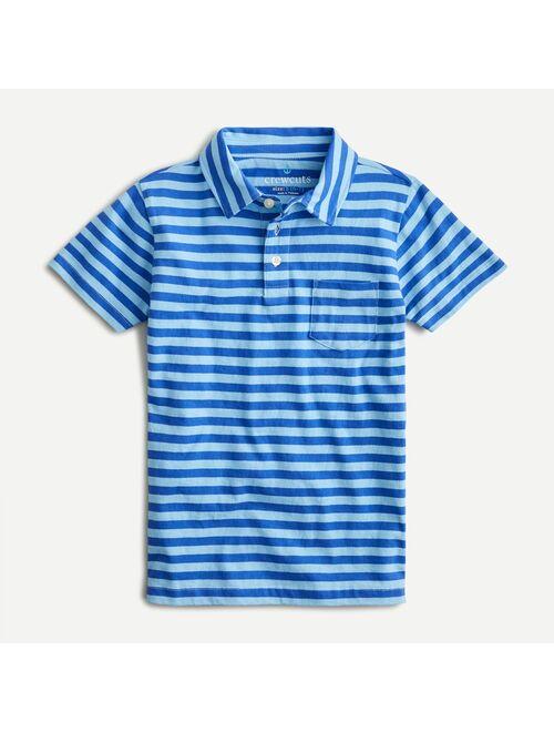 J.Crew Boys' cotton polo in wide stripe