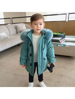 Children white duck down jacket winter new hooded thicker down coats kids high quality warm outfit girl and boys parker ws1852