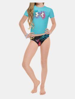 Girls' Pre-School UA Tropical Strappy Bikini
