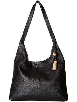 Women's Solid Leather Huntley Hobo Bag
